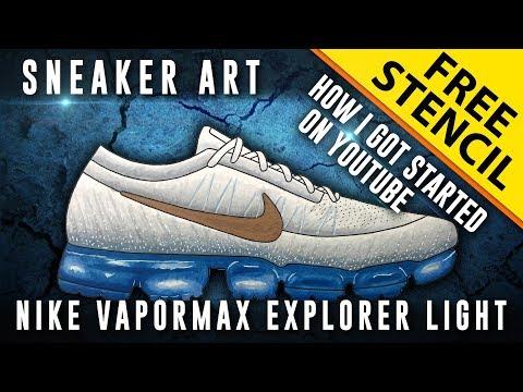 72fbe810f0 How I got Started on YouTube! Sneaker Art: Nike Vapormax Explorer ...