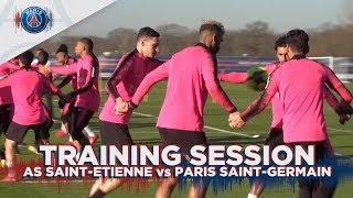 TRAINING SESSION - AS SAINT-ETIENNE vs PARIS SAINT GERMAIN