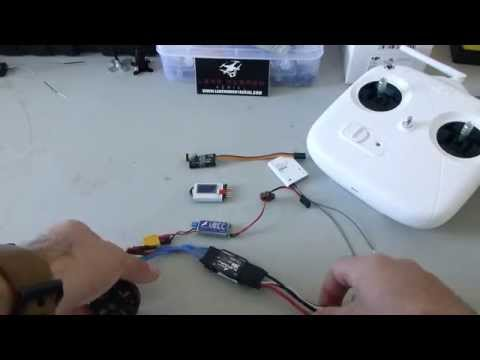 How to do ESC throttle range calibration on a DJI DT7 DR16 Radio System