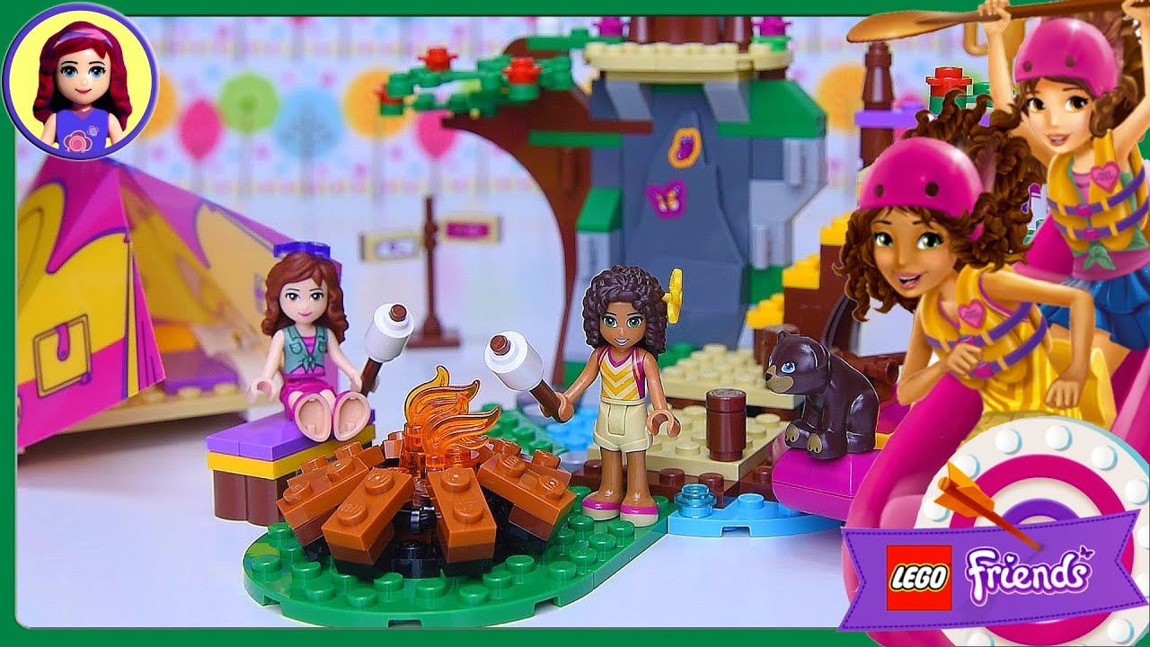 Lego Friends Adventure Camp Rafting Build Review Silly ...