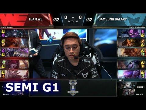 Team WE vs Samsung Galaxy | Game 1 Semi Finals S7 LoL Worlds 2017 | WE vs SSG G1