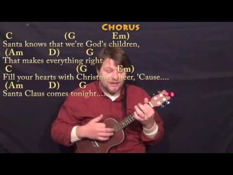 Here Comes Santa Claus (Christmas) Ukulele Cover Lesson in G with Chords/Lyrics