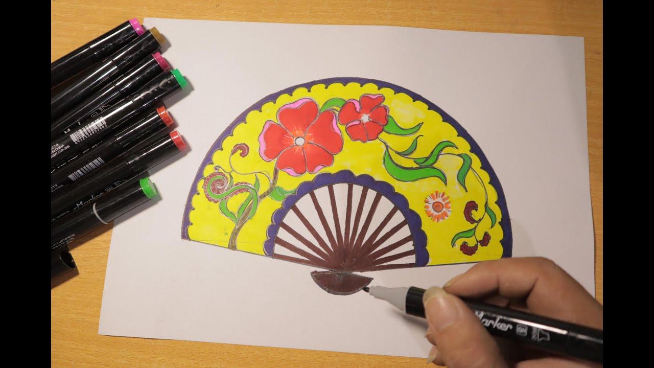 Mĩ thuật 8 Hướng dẫn vẽ trang trí chiếc quạt giấy |TT quạt giấy từ những dụng cụ đơn giản |CenterART | Khái quát các tài liệu về cách vẽ trang trí quạt giấy chính xác nhất