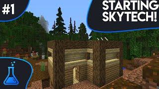 Start a New World - SkyTech #1 (Minecraft 1.12.2 + Mods)