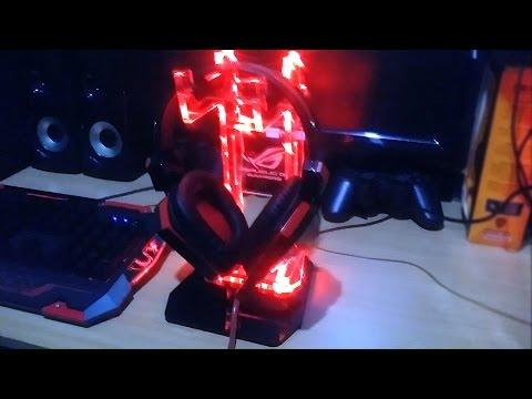 Akrilik Headstand with Led  Headphone Stand Holder Acrylic
