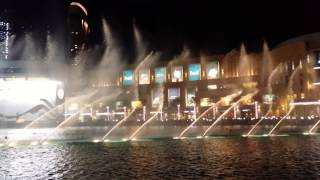 dubai fountain celebrates the 43 union day of UAE