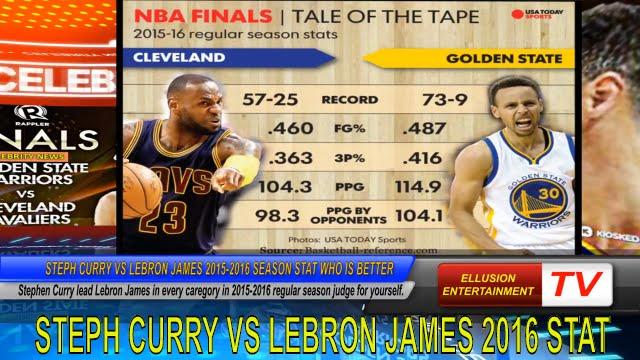 Steph Curry vs LeBron James NBA Season 2015 2016 Stat Who ...