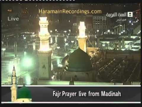 Fajr Adhan From The Prophet's Mosque Madina - Beautiful
