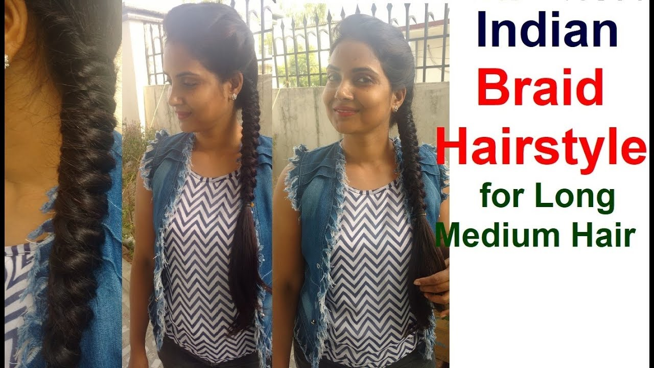How To Do Indian Braid Hairstyles For Long Hair Most Easy Hairstyle Step By Step Tutorial 2018 Youtube