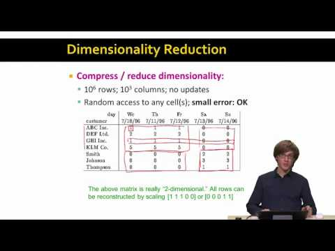 Lecture 46 — Dimensionality Reduction - Introduction | Stanford University