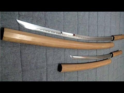 Japanese Sword shirasaya koshirae KATANA WAKIZASHI