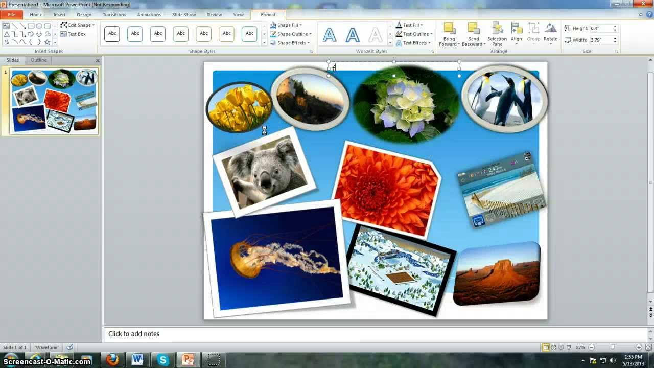 How to create a collage using powerpoint - YouTube