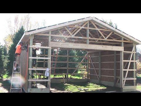 DIY Pole Barns Shed/Garage Construction LP SmartSide