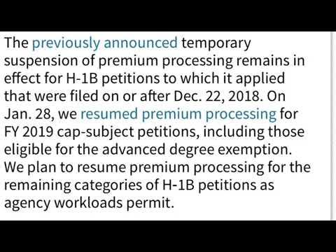 H1b Rfe Response Time Premium Processing 2019