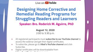 Webinar for Teachers   Designing Home Corrective and Remedial Reading Programs for Struggling...