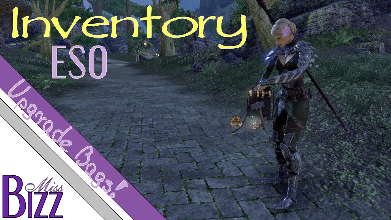 Inventory In Elder Scrolls Online Bank Backpacks And Crafting Bags How To Upgrade Eso