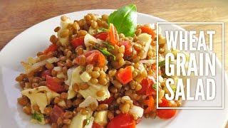 Wheat Grain Salad (with mozzarella, tomatoes and basil) - Suitable for vegetarians