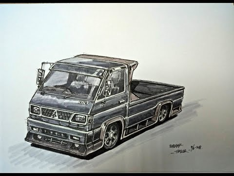 Gambar Sketsa Dadakan  L-300 Modifikasi