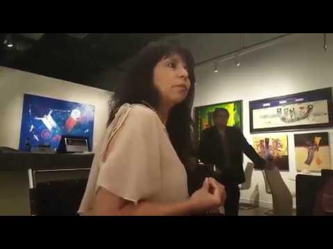 ConectaSer solidaridad por Venezuela Evento D`Art Tampa - Lenny Pto Bonilla y Maritza Perez