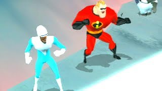 The Incredibles: Rise of the Underminer - Walkthrough Part 13 - Furious Frozen Night