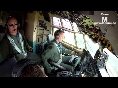 C-130 Hercules cockpit video with GoPro 40 min.