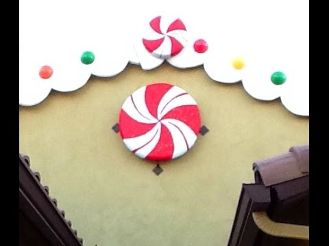 diy giant peppermint candy decoration gingerbread candyland party theme christmas decoration youtube