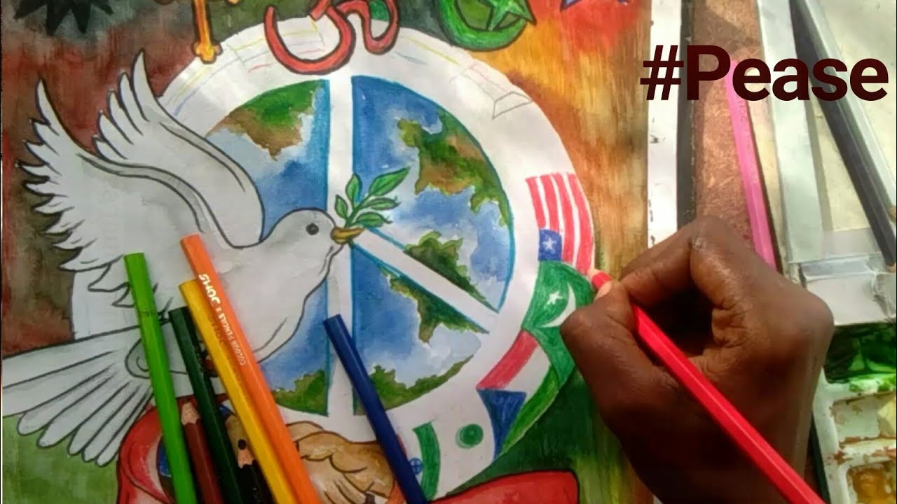 How To Draw Painting On Topic Of World Peace World Unity Youtube