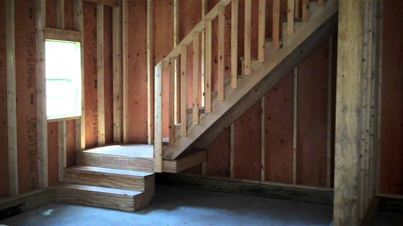 Two Story Garage Gambrel Roof - YouTube