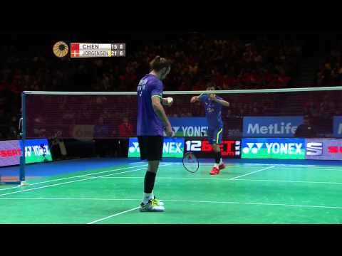 Chen Long vs Jan O Jorgensen | MS F Match 3 - Yonex All England Open 2015