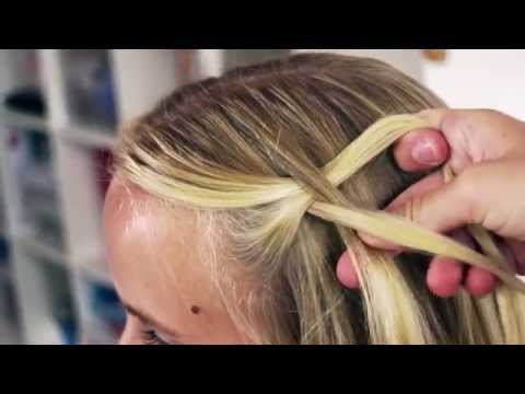 The Twisted Waterfall Braid Hairstyle