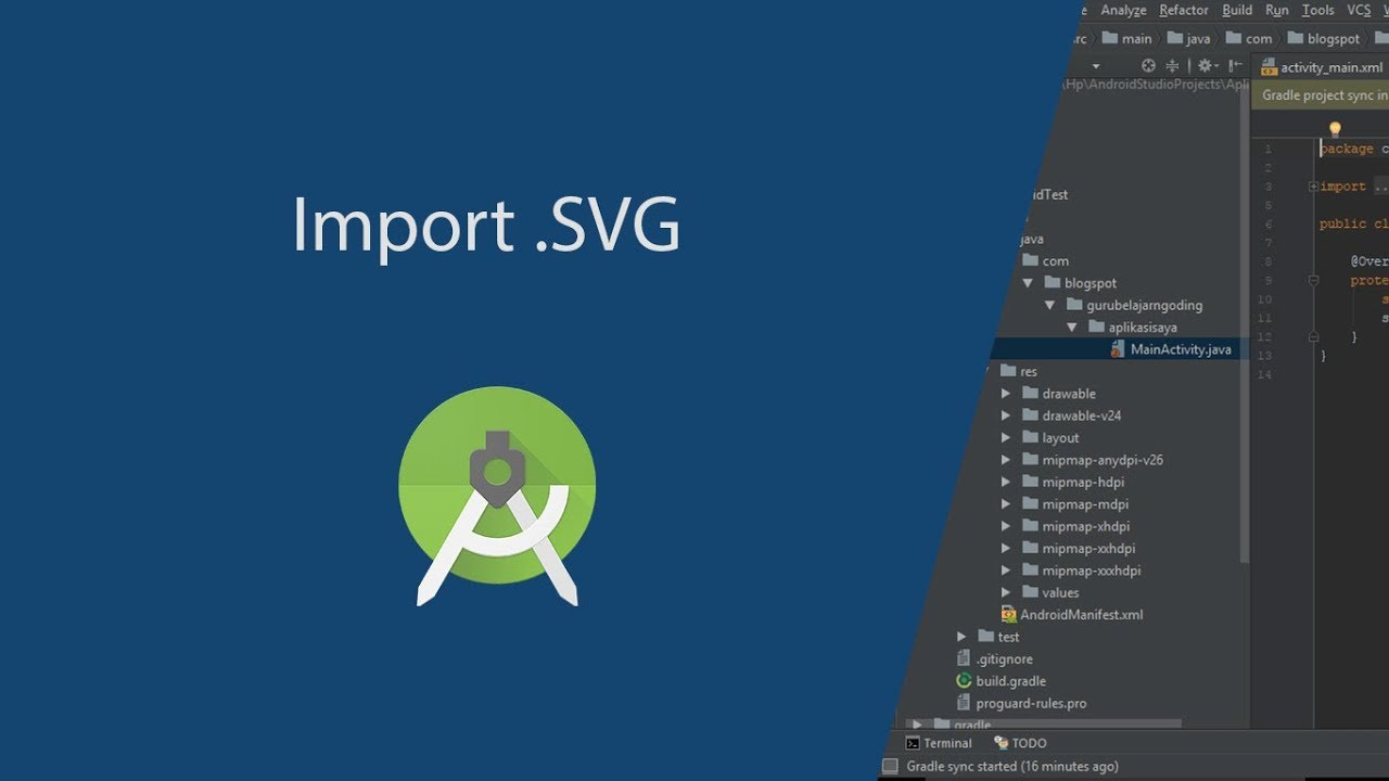 Import SVG File in Android Studio