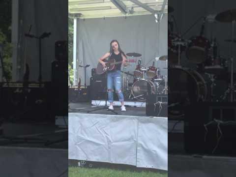 Sarina at Summer Heat Festival singing Castle on the Hill (Ed Sheeran)