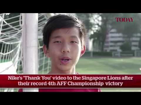 Nike's 'Thank You' video to the Singapore Lions after their record 4th AFF Championship victory