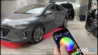 LEDs DE PISO CON APLICACIÓN MÓVIL (Hyundai IONIQ)😱
