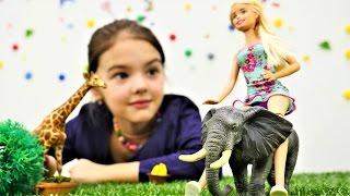Кукла Барби в зоопарке. Развивающие мультики для детей
