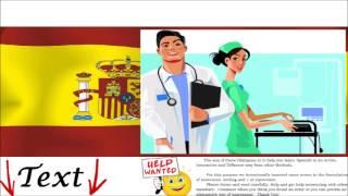 Spanish  Dialogue - At the doctor / family doctor = Al doctor/ médico de familia - Illness Treatment