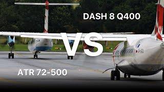▶ Dash 8 Q400 VS. ATR 72-500 | The Engine-POWER Battle!