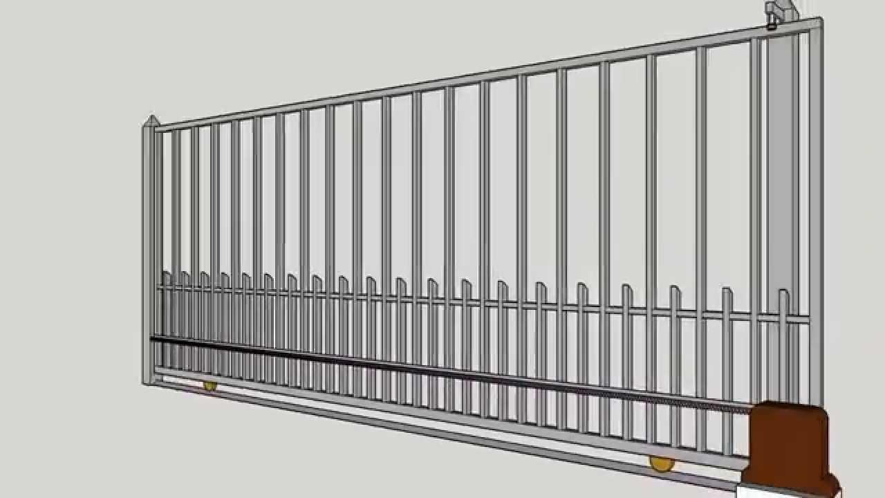 Porton electrico de corredera electric slide gate youtube for Como hacer un porton de madera economico