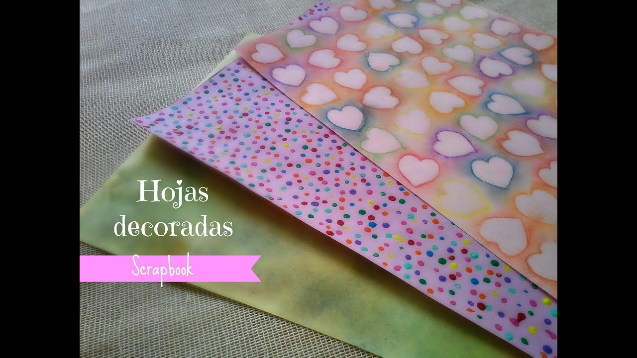 Hojas decoradas scrapbook f cil youtube for Pagina de decoracion