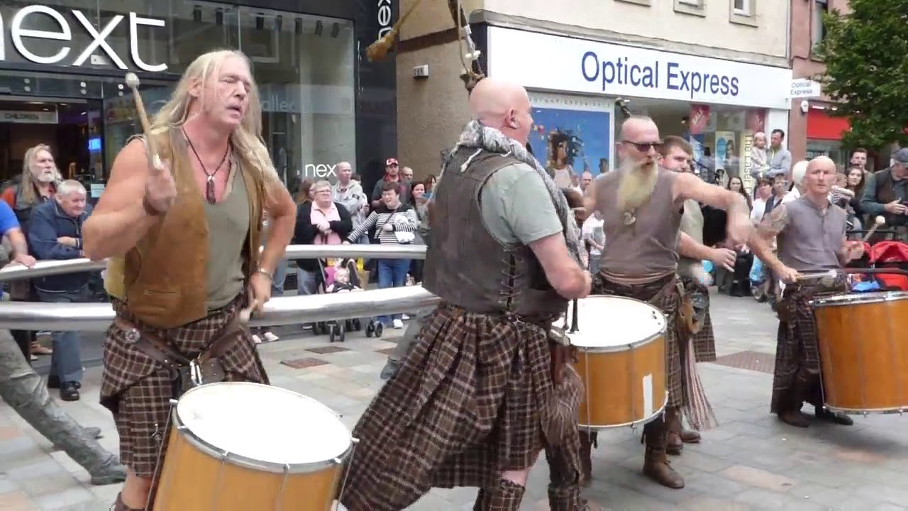 Download Bagpipes And Drums Music Of Best Scottish Tribal Bands City Centre Of Perth Perthshire Scotland