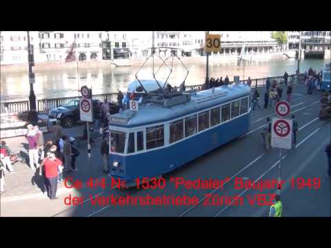 50 Jahre Trammuseum Zürich (TMZ), Tram Korso durch die Innenstadt