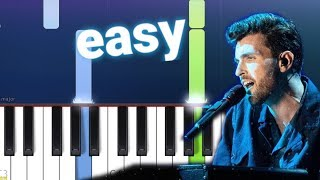 Duncan Laurence - Arcade  (100% EASY PIANO TUTORIAL)