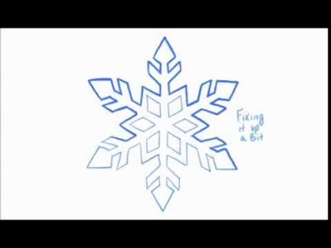 How To Draw A Snowflake 2 Of 2 Youtube