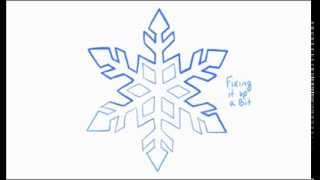 How to Draw a Snowflake (2 of 2)