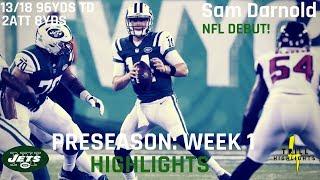 Sam Darnold Preseason Week 1 Highlights | NFL Debut 08.10.2018