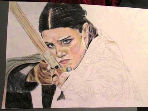 Drawing Lucy Griffiths as Maid Marian Robin Hood BBC