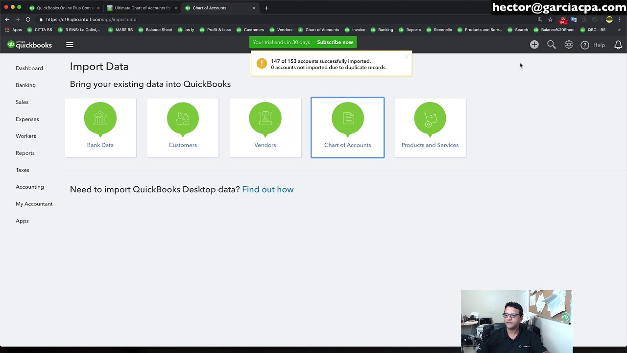 QuickBooks Online: Best Chart of Accounts Setup & How to import it from  Excel