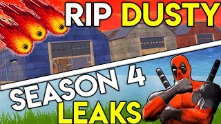 Fortnite: ALL SEASON 4 NEW LEAKS! | RIP Dusty AND Moisty Mire?! || DC & Marvel Superhero Skins???