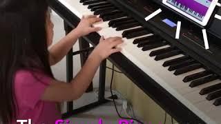 Lily's Simply Piano app advertisement age6 莉々 6歳 シンプリーピアノ 広告 CM出演