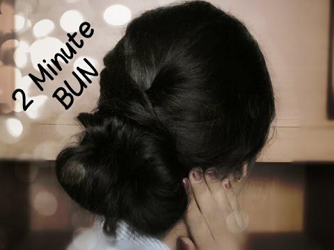 2 Minute Hairstyle Elegant Bun Karva Chauth Special Omnistyles